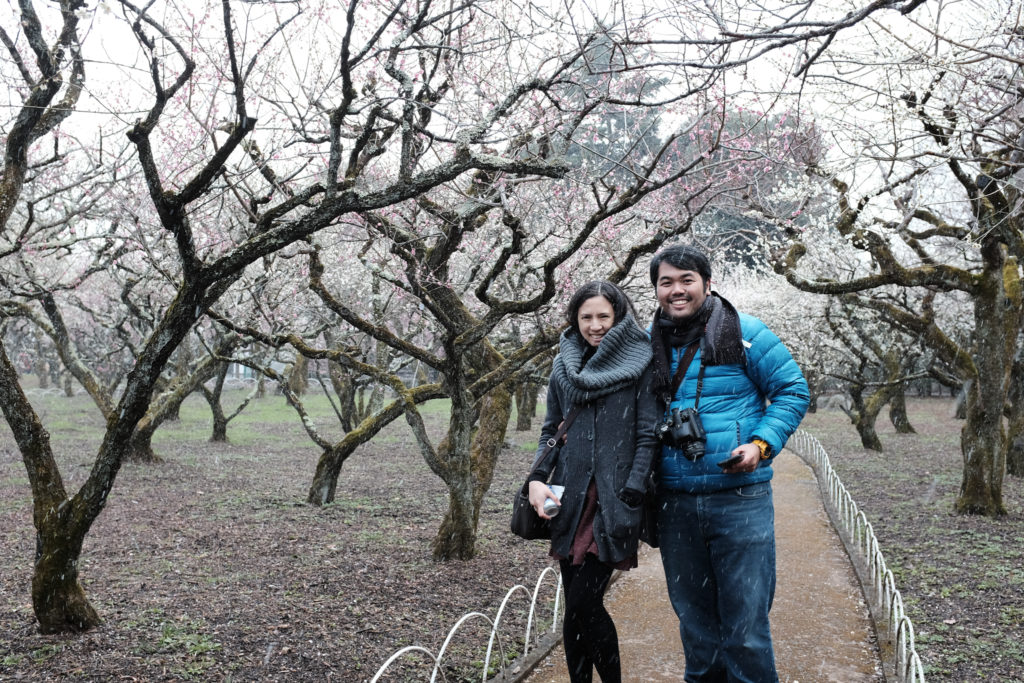 The photographer who should get better and his wife @ Plum Orchard around Kitano Tenmangu Shrine